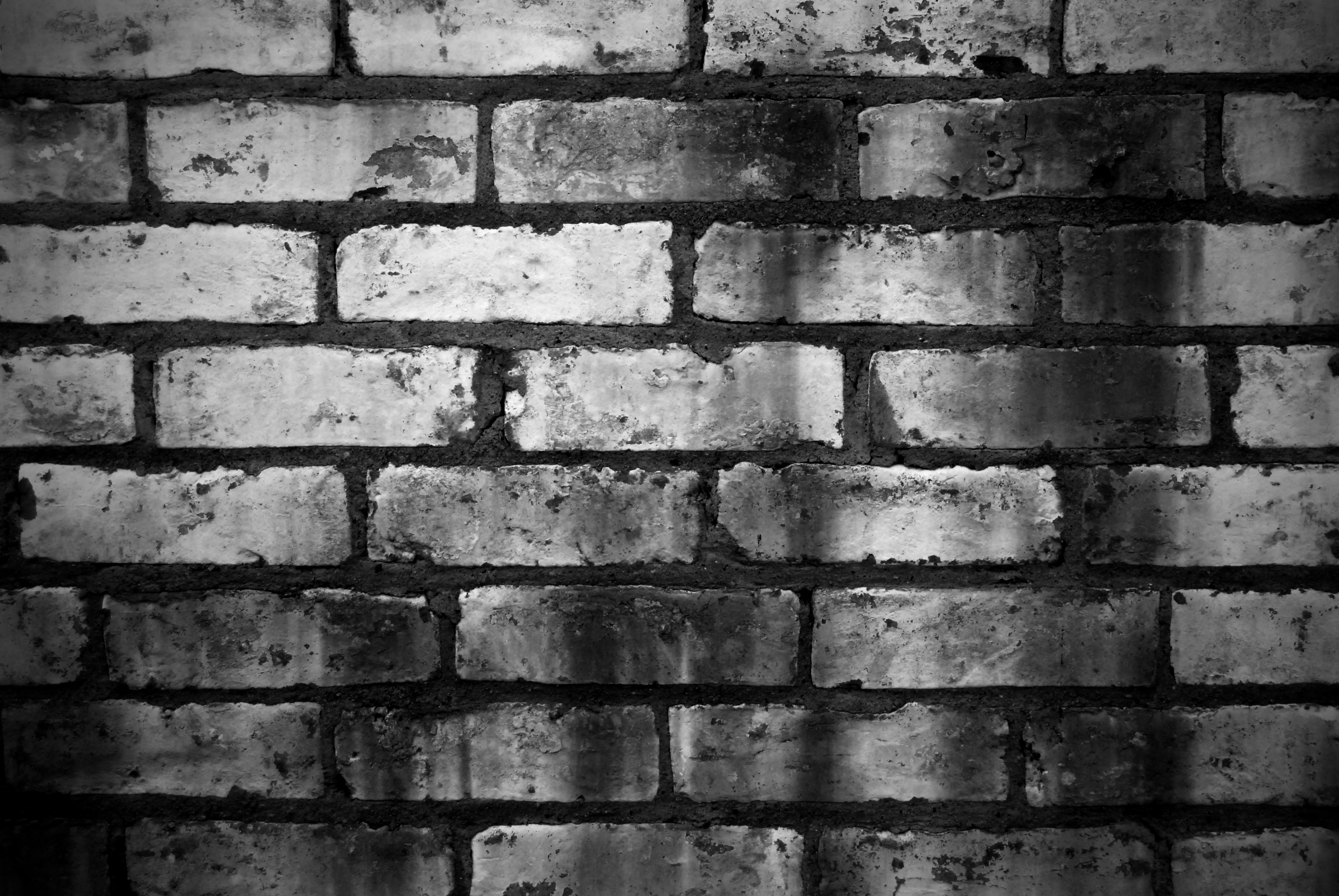 Brick wall graphic musings for Black and white wallpaper for walls